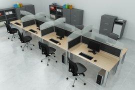 Bekannt STOCK Büroeinrichtungen - Trennwände, Schallschutzwände QP16